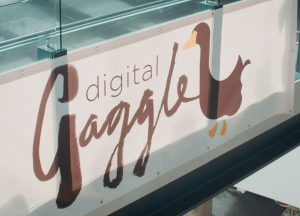 Digital Gaggle banner at conference