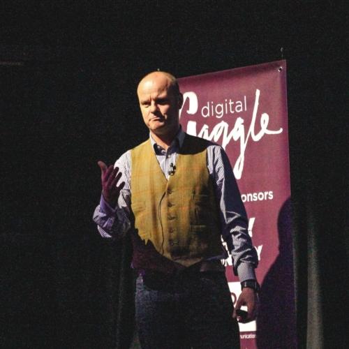 Jon Payne speaking at Digital Gaggle