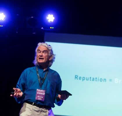 Martin Warnes on stage at Digital Gaggle