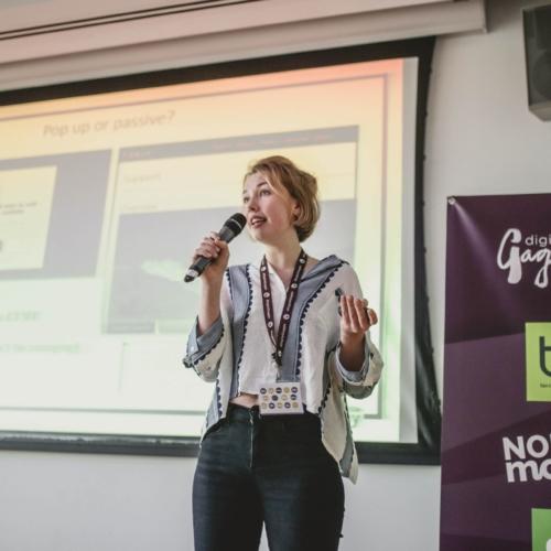 Gertie Goddard presenting at Digital Gaggle