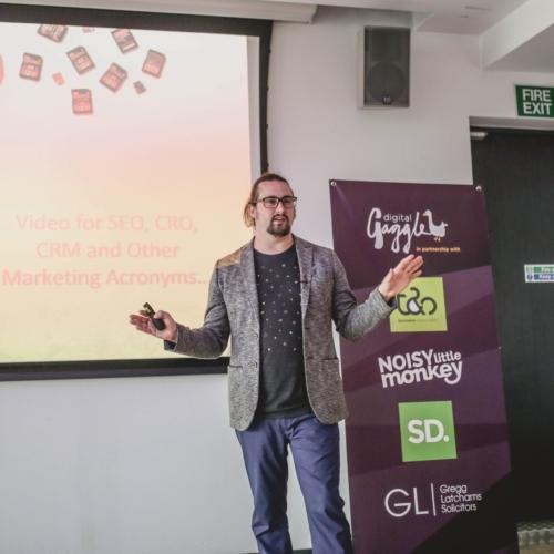 Phil Nottingham presenting at Digital Gaggle
