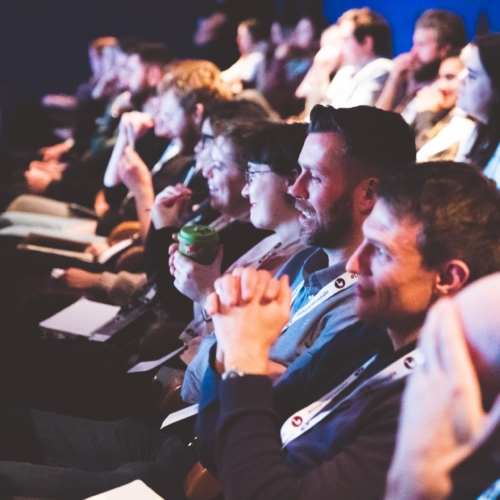 The audience enjoying a talk