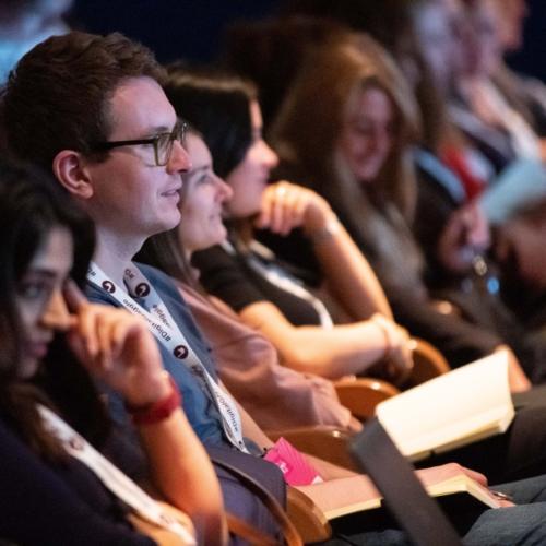 Attendees listening during Matt Curry's Talk