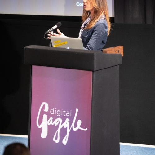 Mel Hyde presenting at Digital Gaggle